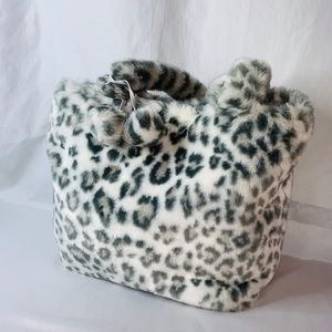 Handbags - PB Teen faux Snow Leopard fur tote / purse